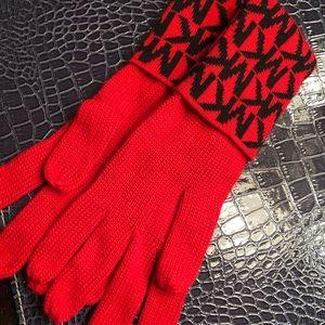 New women's Michael Kors red winter gloves